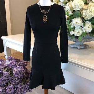 NWT Bar III Black Long Sleeve Flare Dress